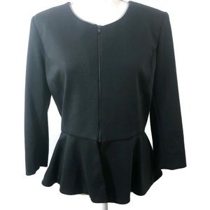New York & Co Black Zip Jacket Top Size Large NWT